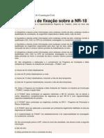 Questões sobre NR18