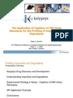 2008 Pittcon - Oral Presentation - NanoSpray for CMC