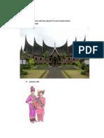 Gambar Rumah Adat Dan Pakaian Sumatra Barat