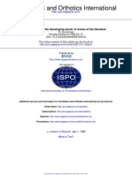 Prosthetics in the Developing World-A Review of the Literature