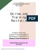 On the Job Training Portfolio Practicum II - Florante P. Ilagan,Jr.