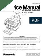 Panasonic KX-FL513_High Speed Laser Fax and Copier
