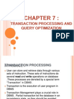 Transaction Processing and Query Optimization