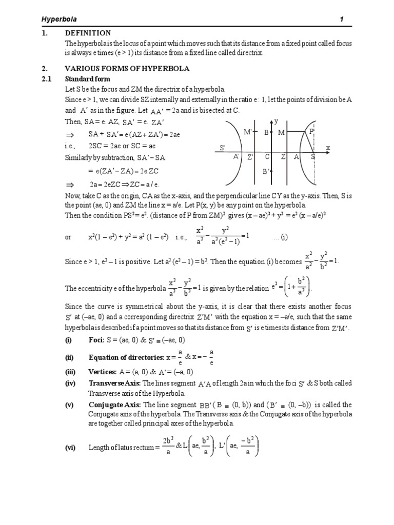 Hyperbola theory ellipse perpendicular falaconquin