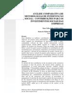 Analise Comparativa Metodologia de Interv Social