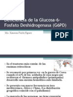 21189981 Deficiencia de La Glucosa 6 Fosfato Deshidrogenasa G6PD