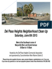 Del Paso Heights Neighborhood Clean Up