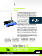 Linksys WRT54GP2 Datasheet