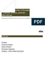 The Economic Crisis in Europe - Causes