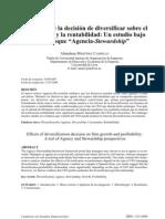 Influencia de la diversificación en el crecimiento y la rentabilidad