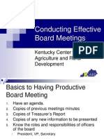 Conducting Effective Board Meetings