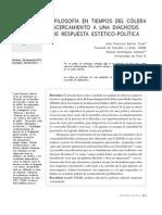 La filosofía en tiempos del cólera acercamiento a una diagnosisde respuesta estético-poLítica