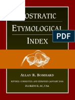 Bomhard - Nostratic Etymological Index (3rd edition 2018)