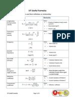 UT Equations