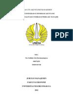 Pengaruh Penerapan Informasi Akuntansi Pertanggungjawaban Terhadap Perilaku Manajer