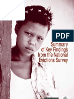 Summary of Key Findings from the National from the National Evictions Survey