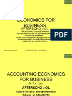 Accounting & Economics for Business 8 November