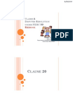 Claims & Disputes Resolution Under Fidic 99
