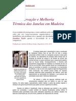 Conservacao e Melhoria Termica Das Janelas Em Madeira