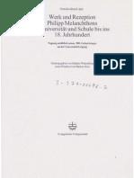 Hubig, Christoph - Melanchthon Als Interpret Der Aristotelischen Ethik