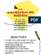 Outsourcing business plan