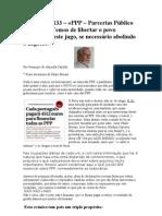 Crónica Nº 133- PPP-Parcerias Publico Privadas.