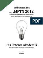 Pembahasan Soal SNMPTN 2012 Tes Potensi Akademik (Penalaran Verbal) Kode 613
