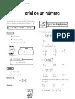 IV Bim - 4to. año -  Raz. Mat. - Guía 1 - Factorial de un nú