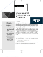 Environmental Engineering as a Profession