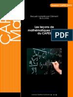 Les leçons de mathématiques à l'oral du CAPES - Session 2013