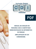 Manual Criacao CDI Comunidade 2009