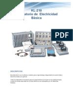 KL-210 Lab. Electricidad Byaacute9sica KL-210 Laboratorio de Electricidad Basica