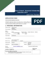 Romania_Scholarship Application Form 2013