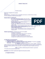 PROIECT DIDACTIC simbolismul