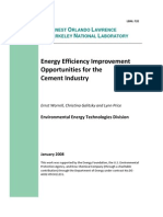 eRep-Energy Efficiency Improvement Opportunities for the Cement Industry, LBNL 2008