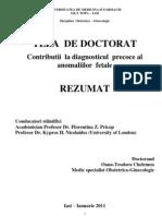 Contributii la diagnosticul precoce al anomaliilor fetale