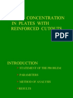 Stress Concentration in Plates With Reinforced Cutouts arumugam Anna University, Chennai, India