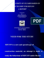 Study on Fluidity of Flyash Based on Cement Slurry for Sifcon a Report arumugam Anna University, Chennai, India