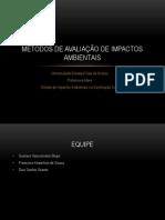 Métodos de Avaliação de Impactos AmbientaL