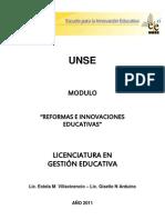 Reformas e Innovaciones Educativas 2011