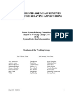 Use of Synchrophasor Measurements in Protective Relaying Applications_draft 6_4