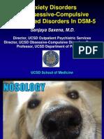 dsm5 oc spectrum  anxiety disorders saxena