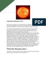Solar Flares 2013