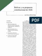 Bolívar y su propuesta