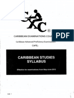 Caribbean Studies Syllabus (Effective 2013)