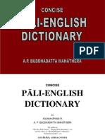 A P Buddhadatta Concise Pali English Dictionary