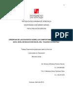CREENCIAS DE LAS DOCENTES SOBRE LOS COMPORTAMIENTOS AGRESIVOS EN EL NIVEL DE EDUCACIÓN INICIAL.docx