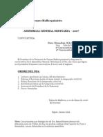 Assamblea Federació de Penyes 2008
