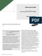 Boost Mobile M830 Galaxy Rush English User Manual IceCreamSandwich LH1 F5