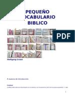 9683074 Pequeno Vocabulario Biblico Wolfgang Gruen